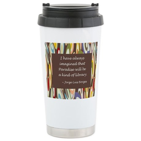 Paradise the Library Stainless Steel Travel Mug