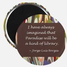 """Paradise the Library 2.25"""" Magnet (10 pack)"""