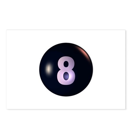 8 Ball 3D Postcards (Package of 8)