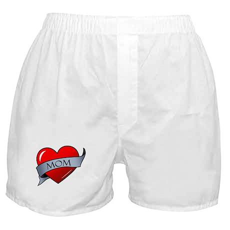 Mom Heart Tattoo Boxer Shorts