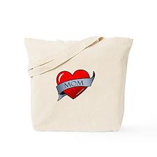 Mom Heart Tattoo Tote Bag