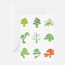 Bonsai Trees Greeting Card
