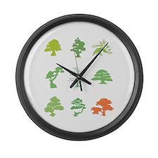 Bonsai Trees Large Wall Clock