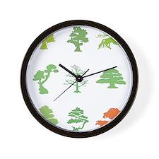 Bonsai Trees Wall Clock