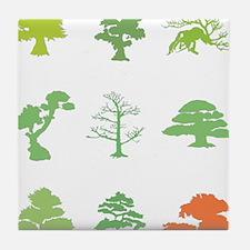 Bonsai Trees Tile Coaster