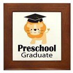 Preschool Graduation Lion Framed Tile