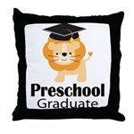 Preschool Graduation Lion Throw Pillow