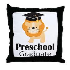 Preschool Graduation Lion Throw Pillow