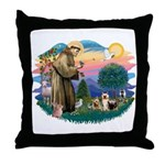 St Francis #2/ Silkies (2) Throw Pillow