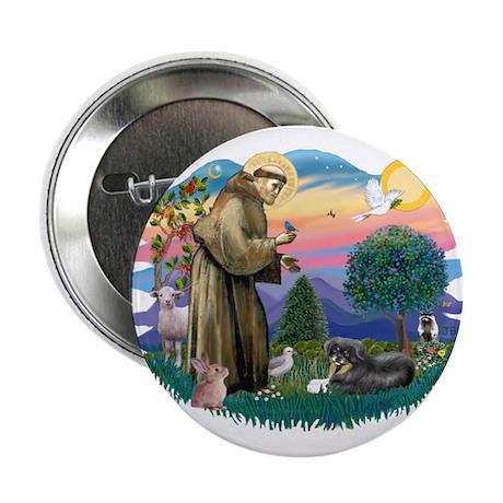 """St Francis #2/ Tibetan Span 2.25"""" Button"""