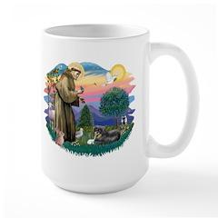 St Francis #2/ Tibetan Span Large Mug