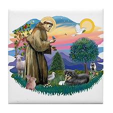St Francis #2/ Tibetan Span Tile Coaster