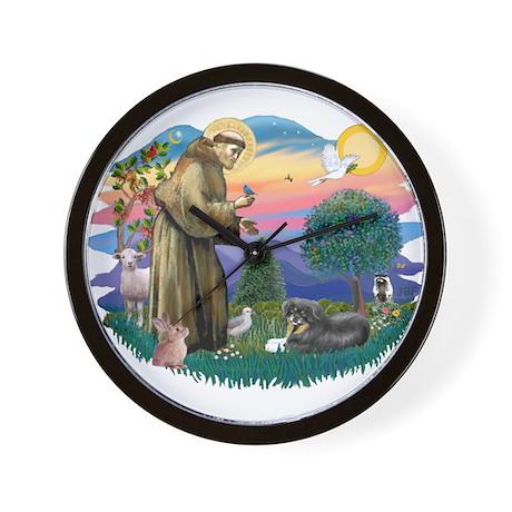 St Francis #2/ Tibetan Span Wall Clock