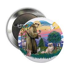 """St Francis #2/ Tibetan Span #4 2.25"""" Button"""