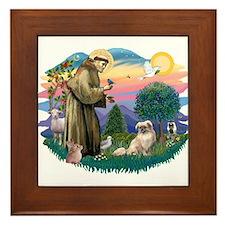 St Francis #2/ Tibetan Span #4 Framed Tile