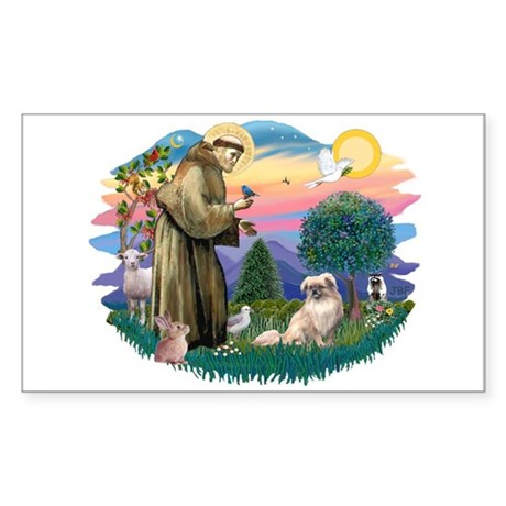 St Francis #2/ Tibetan Span #4 Sticker (Rectangle)