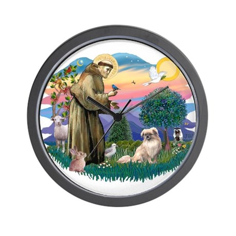 St Francis #2/ Tibetan Span #4 Wall Clock