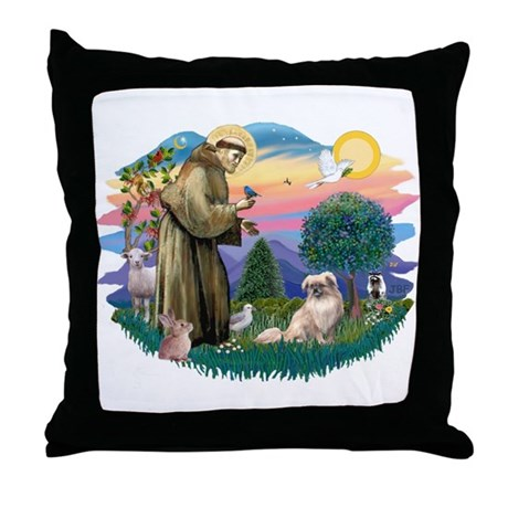 St Francis #2/ Tibetan Span #4 Throw Pillow