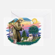 St Francis #2/ Tibetan Span #4 Greeting Card
