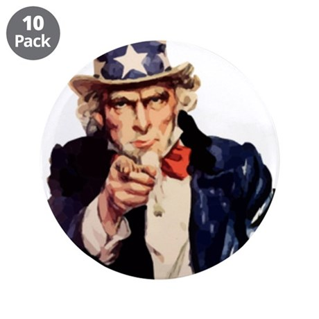 "Uncle Sam 3.5"" Button (10 pack)"