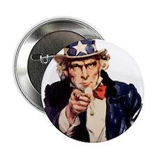 """Uncle Sam 2.25"""" Button"""