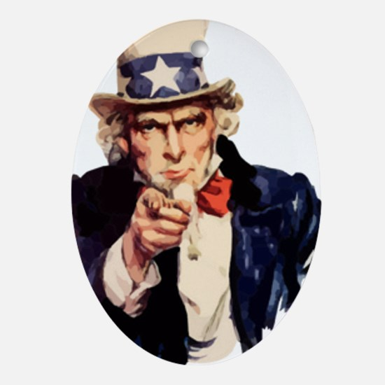 Uncle Sam Ornament (Oval)