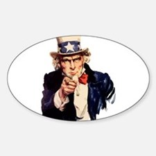 Uncle Sam Sticker (Oval)