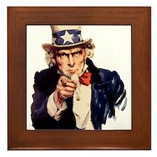 Uncle Sam Framed Tile