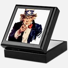 Uncle Sam Keepsake Box