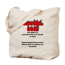 Cute Support end abuse animals Tote Bag