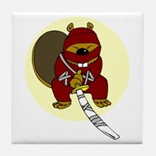 Japanese Killer Ninja Beaver Tile Coaster