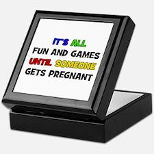 Fun and Games Pregnant Keepsake Box