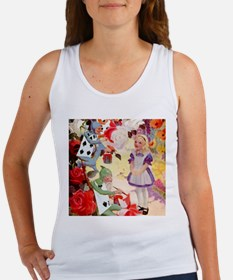 PAINTING THE QUEEN'S ROSES RED Women's Tank Top