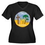 Queen of the South Women's Plus Size V-Neck Dark T