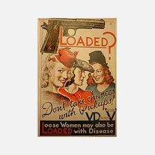 Vintage VD Poster Rectangle Magnet