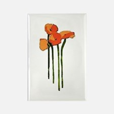 poppies 1 Rectangle Magnet
