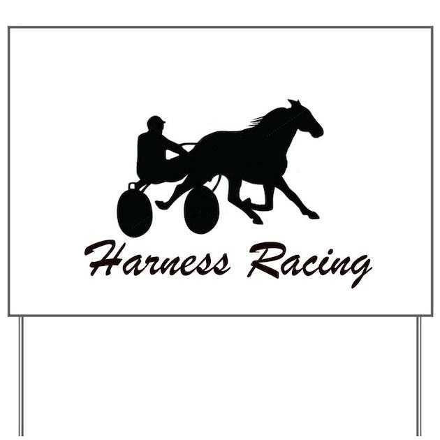 Harness Racing Silhouette Yard Sign by TrottingPower