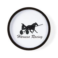 Harness Racing Silhouette Wall Clock