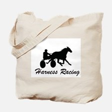 Harness Racing Silhouette Tote Bag