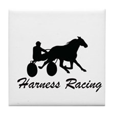 Harness Racing Silhouette Tile Coaster