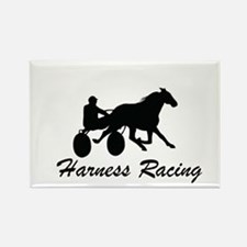 Harness Racing Silhouette Rectangle Magnet