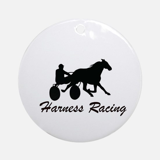 Harness Racing Silhouette Ornament (Round)