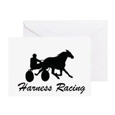 Harness Racing Silhouette Greeting Card