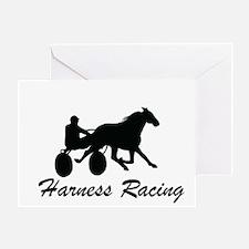 Harness Racing Silhouette Greeting Card