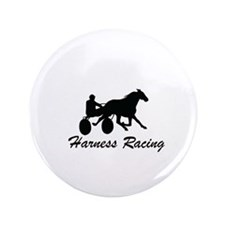 """Harness Racing Silhouette 3.5"""" Button"""