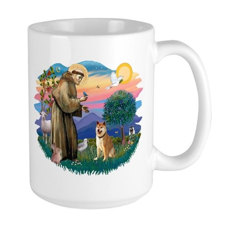 St Francis #2/ Shiba Inu Large Mug