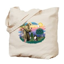 St Francis #2/ Sheltie (tri) Tote Bag