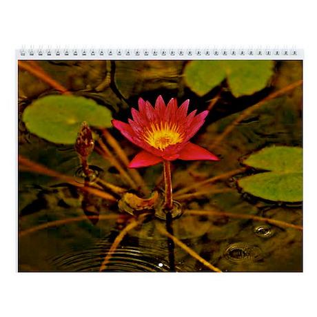 Yellow Ruben's Waterlily Wall Calendar