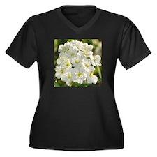 A Natural Bouquet Women's Plus Size V-Neck Dark T-