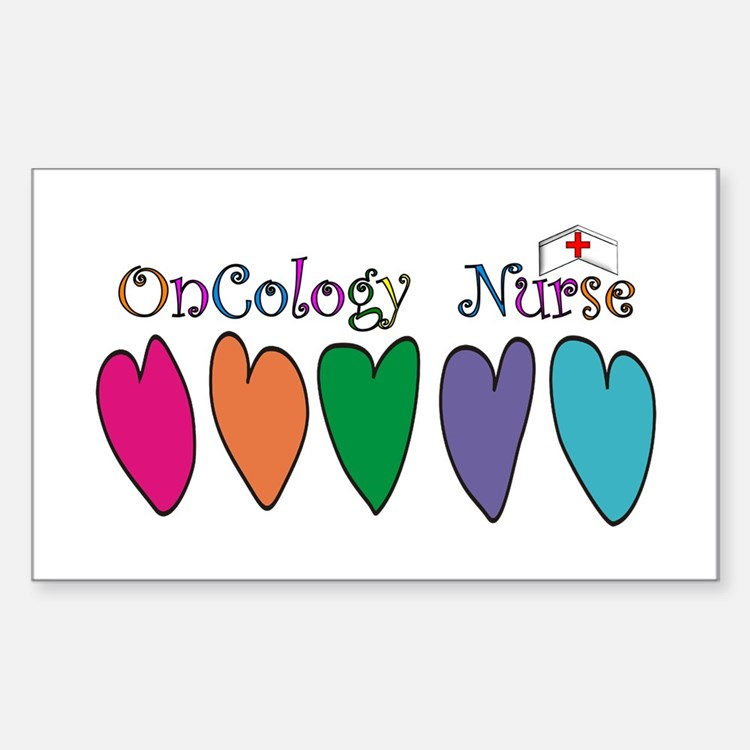 Cute Registered nurse oncology Decal
